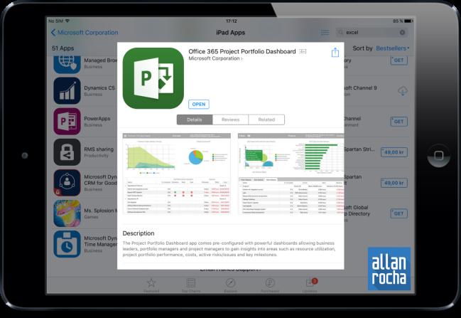 Office 365 Project Portfolio Dashboard iPad App 01