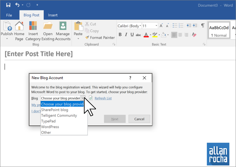 How to publish a post to WordPress using Microsoft Office Word ...