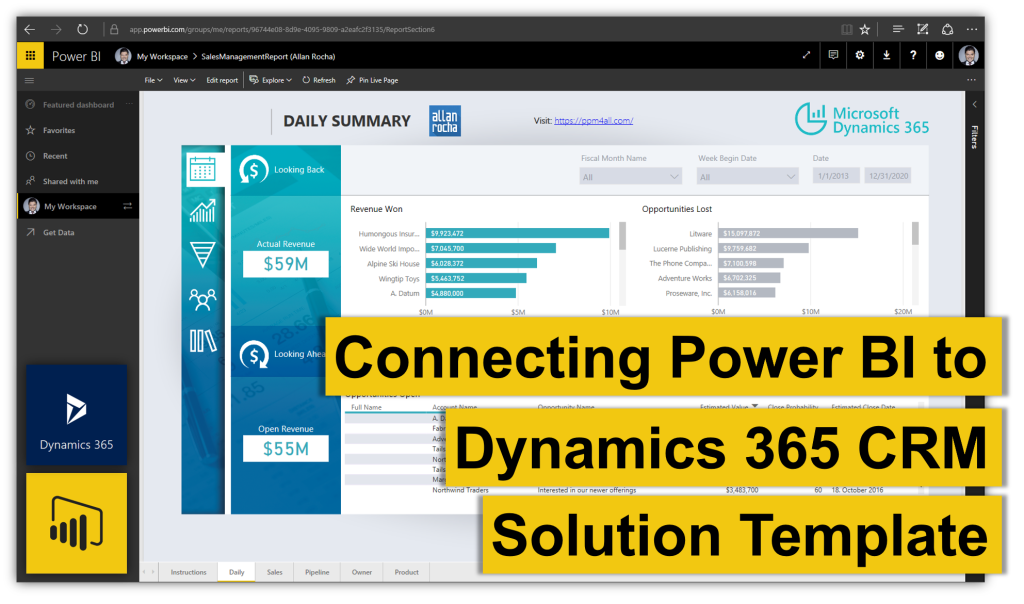 Connecting Power Bi To Dynamics 365 Crm Solution