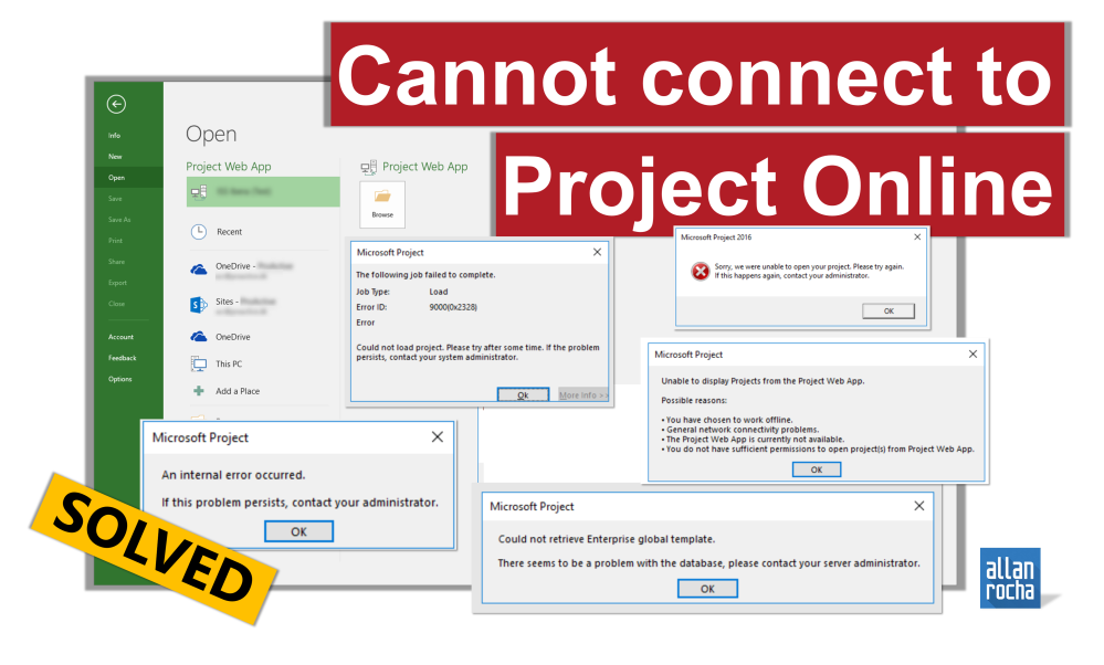 SOLVED] CANNOT CONNECT TO PROJECT ONLINE – Could not load