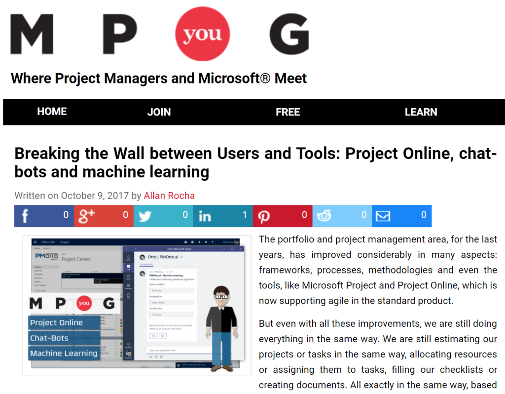 Article: Breaking the Wall between Users and Tools: Project